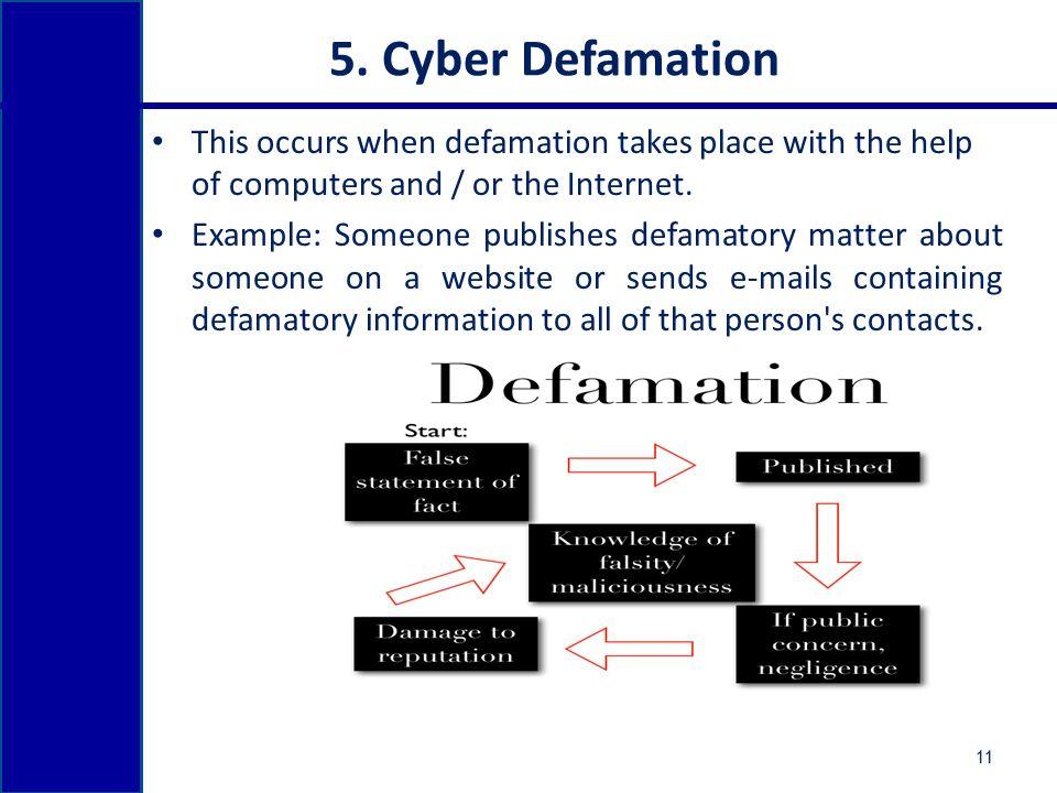 Cyber defamation india | cyber denigration india |authorstream.