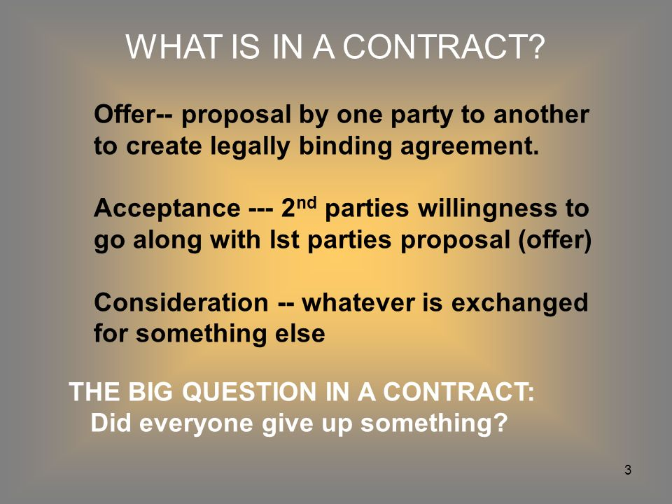 1 Unit 3 Contract Law 2 What Is A Contract A Legally Binding