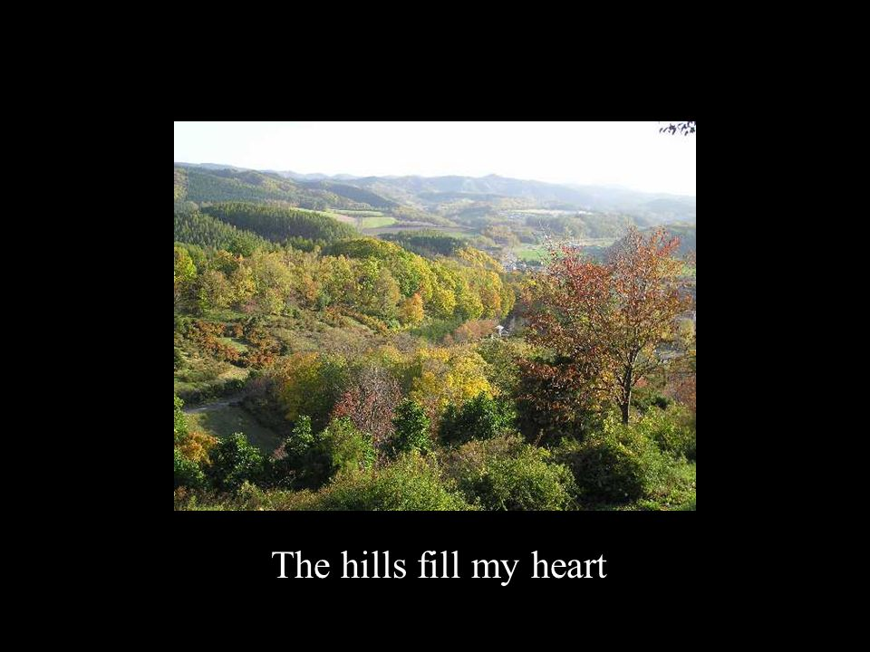 The hills fill my heart