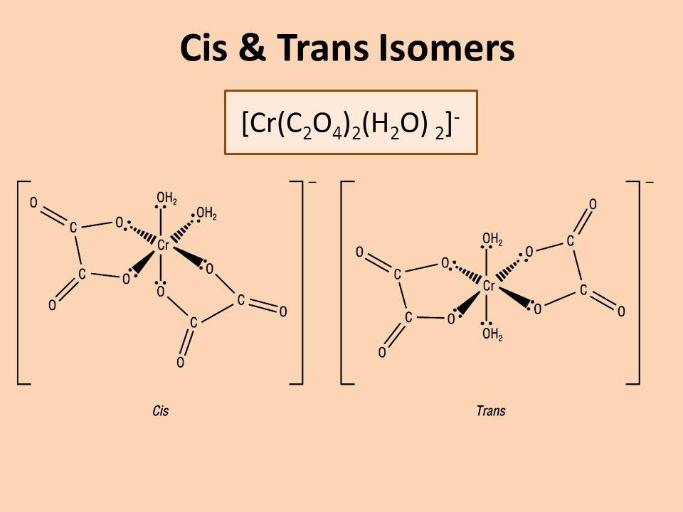 Bidentate Multidentate Ligands Explain And Use The Term Bidentate Ligand Describe Stereoisomerism In Transition Element Multidentate Complexes Cis Trans Ppt Download
