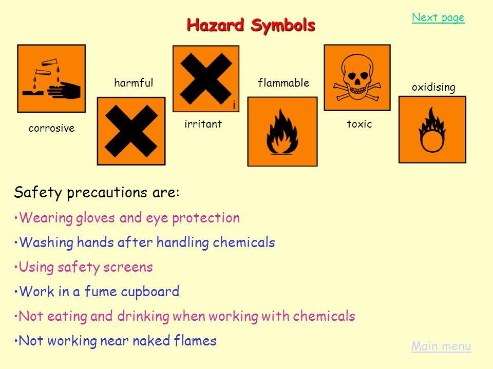Next page the topics in this unit are 1 hazard symbols 2 the symbols 2 the periodic table 3 hazard urtaz Choice Image