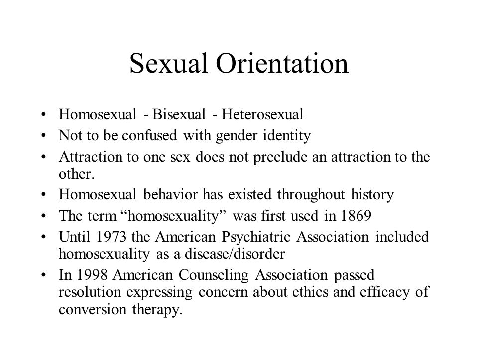 Sexual orientation and it s difference