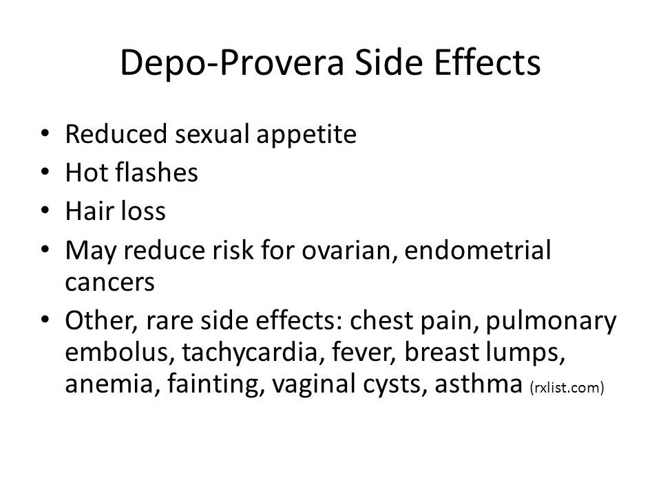 Provera sexual side effects