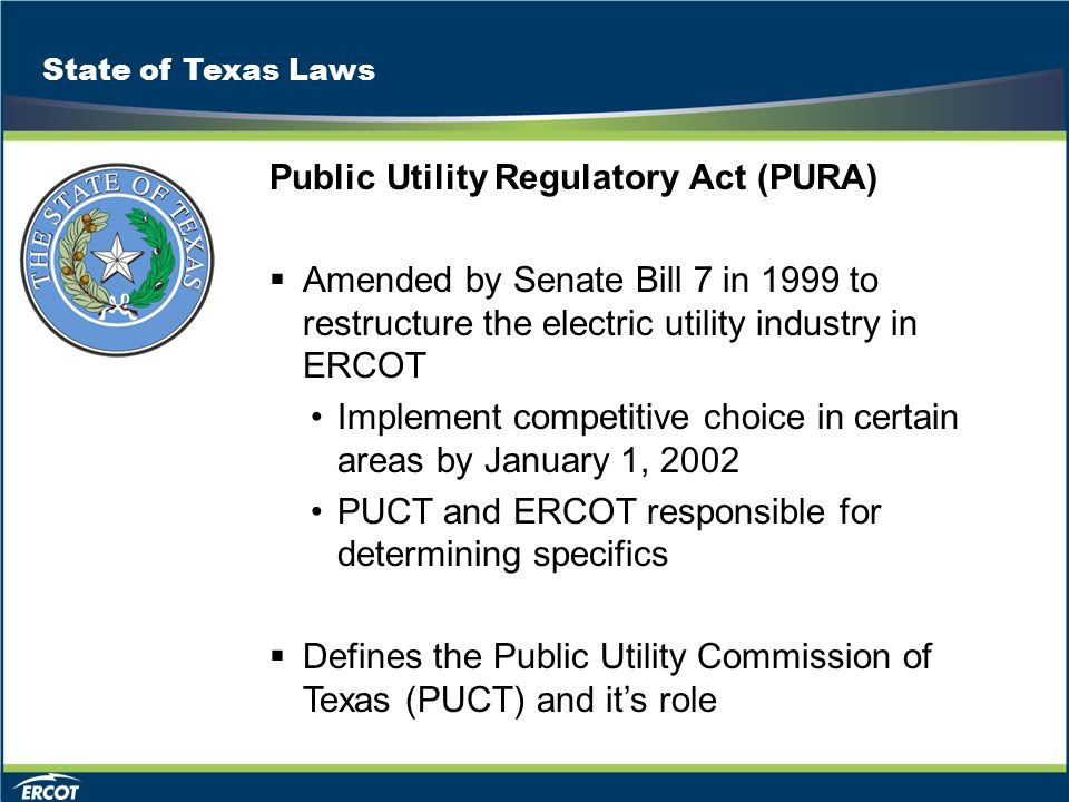 ERCOT MARKET EDUCATION Retail 101  Market Rules Overview