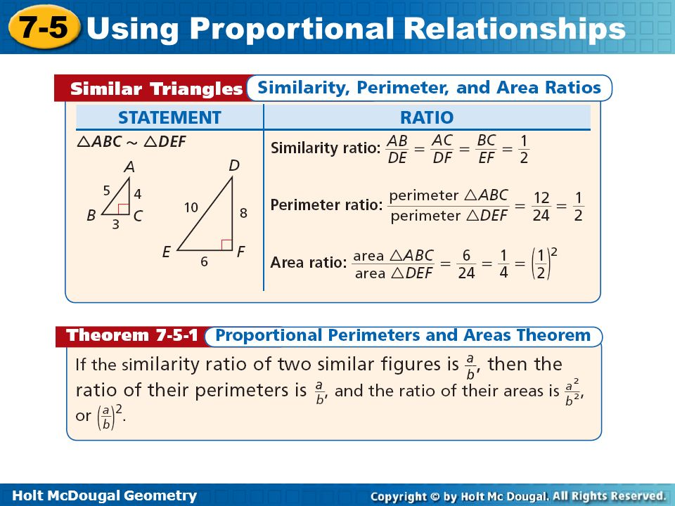 Holt McDougal Geometry 7 5 Using Proportional Relationships