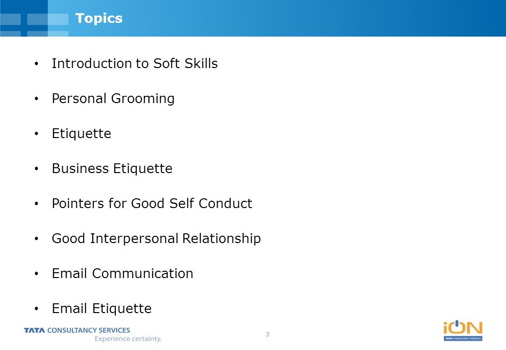 Top 50 soft skills training topics.