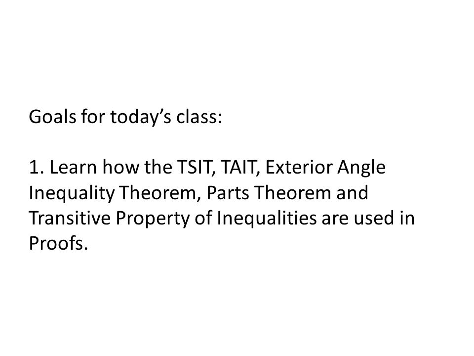 Honors Geometry Section 48 Cont Triangle Inequality Proofs Ppt