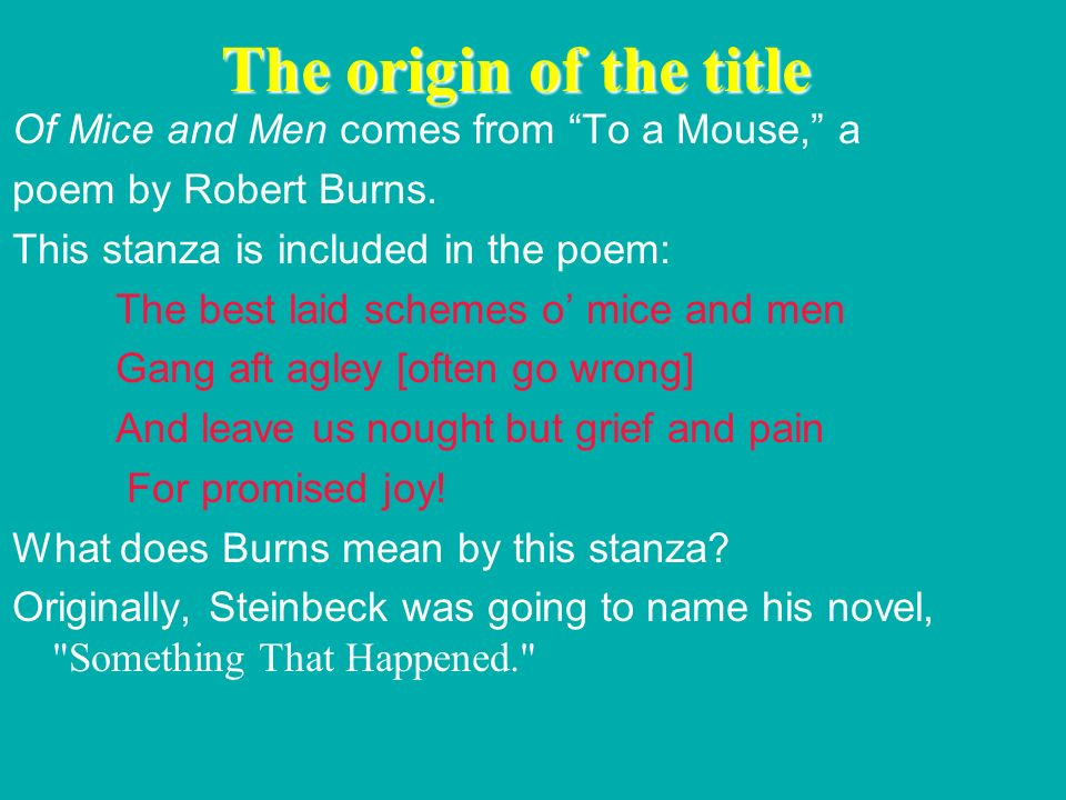 comparison of poems to of mice and Best books like of mice and men : #1 lolita #2 walden and other writings #3 the rime of the ancient mariner and other poems #4 lady chatterley's lover #5.