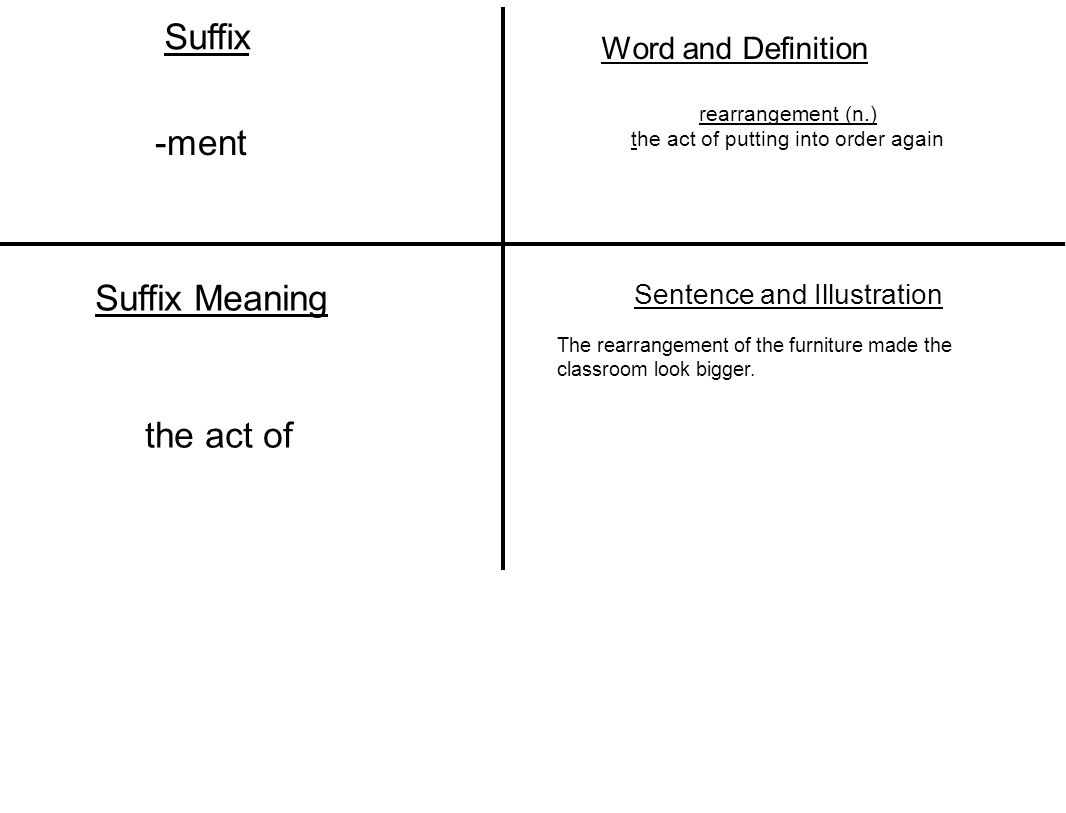 A word with the suffix n