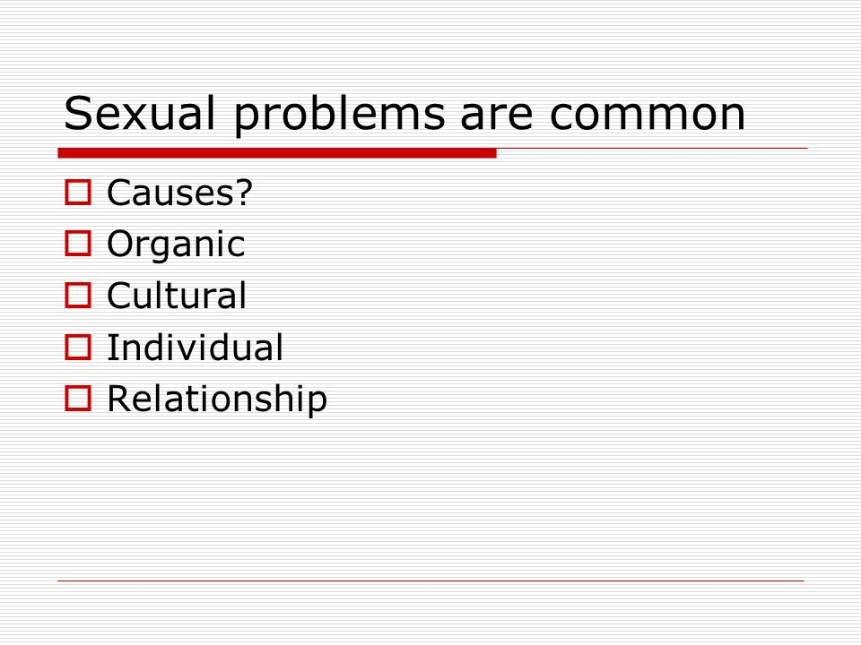 How to solve sex problems in a relationship