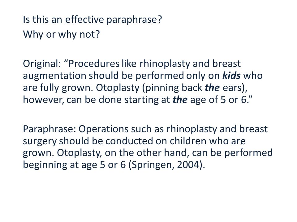 how to paraphrase for kids
