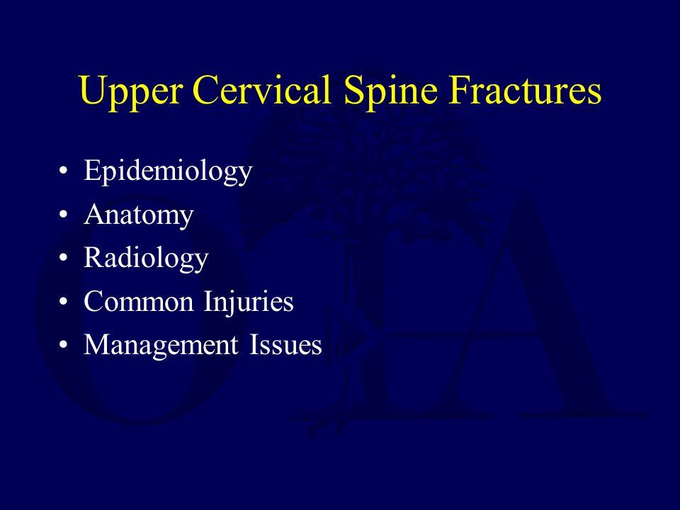 Upper Cervical Spine Fractures Daniel Gelb, MD Created January ppt ...