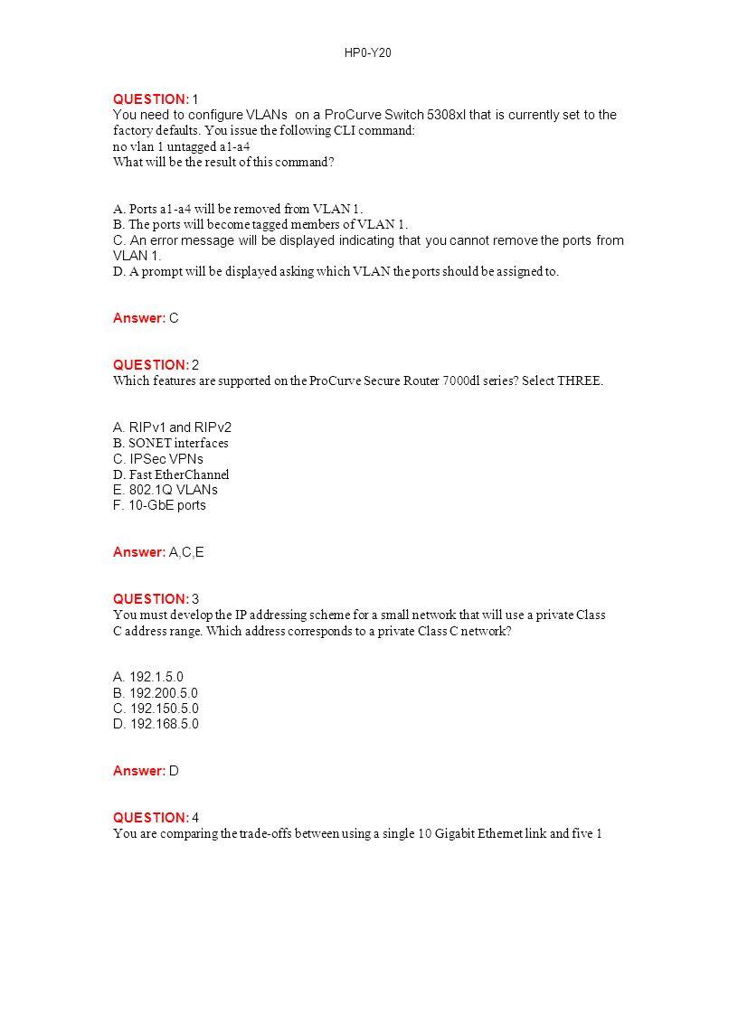 HP0-Y20 HP ProCurve Adaptive EDGE Fundamentals Thousands of