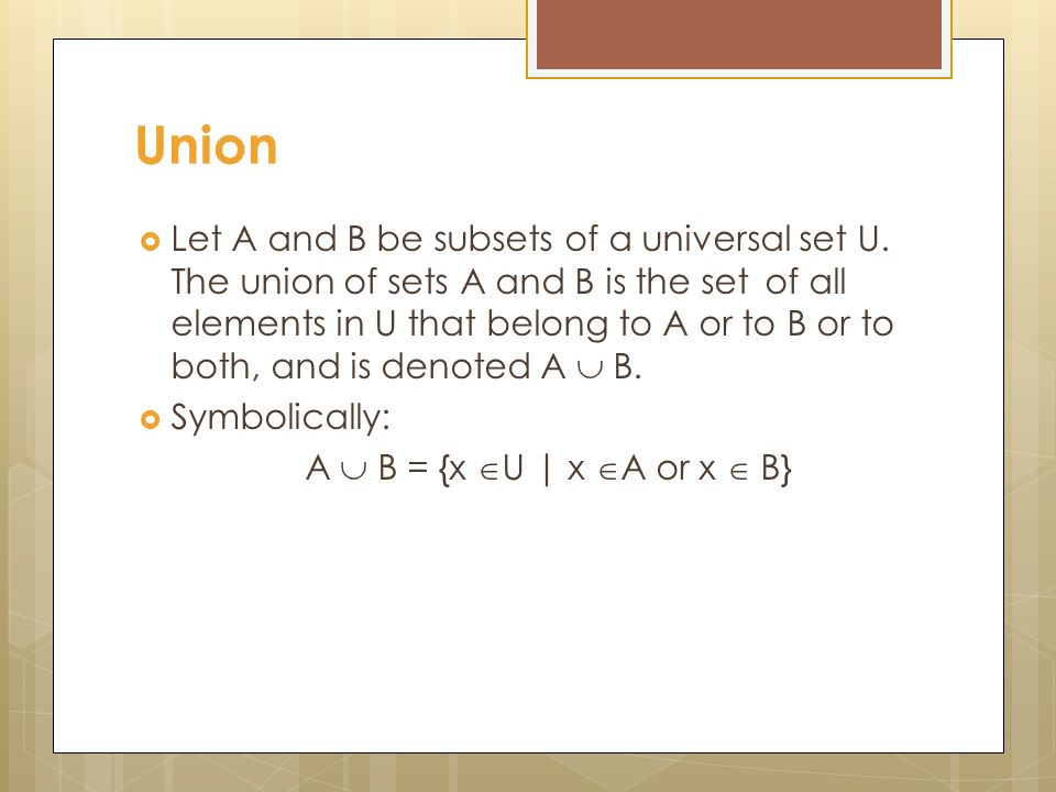 Discrete Mathematics Lecture 10 Venn Diagram Union Let A And B