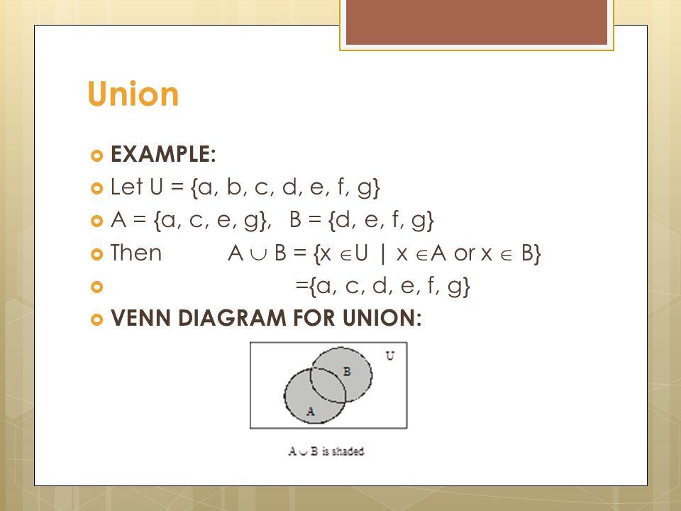 Discrete mathematics lecture 10 venn diagram union let a and b 3 union ccuart Gallery