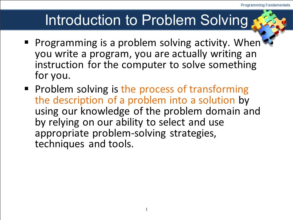 problem solving methods and techniques