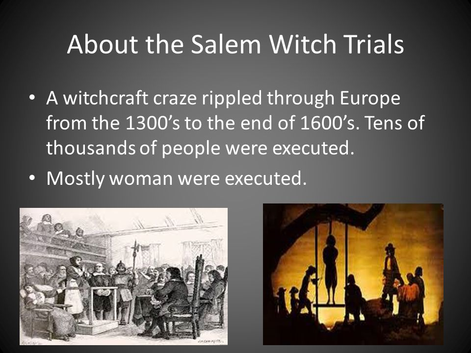 commentary on the infamous salem witch trials In arthur miller's classic, the crucible, currently being presented at the olney theatre center, an actual witch hunt is portrayed loosely based on historical facts, miller had crafted a four-act play (separated by one intermission) depicting the infamous salem witch trials of 1692 in the massachusetts bay colony.