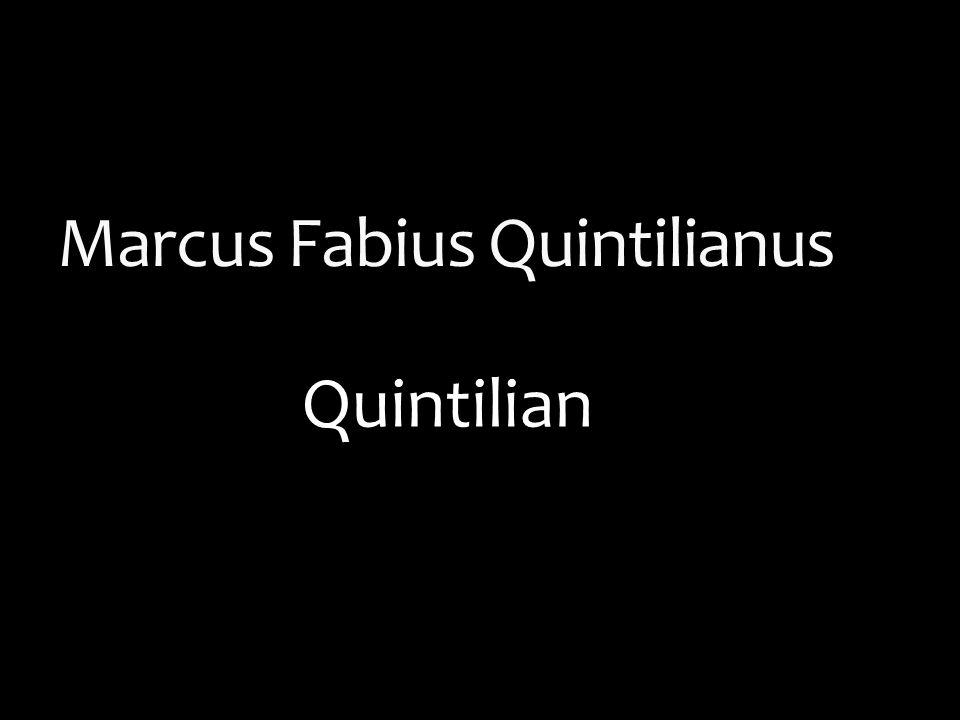 quintilian institutio oratoria summary