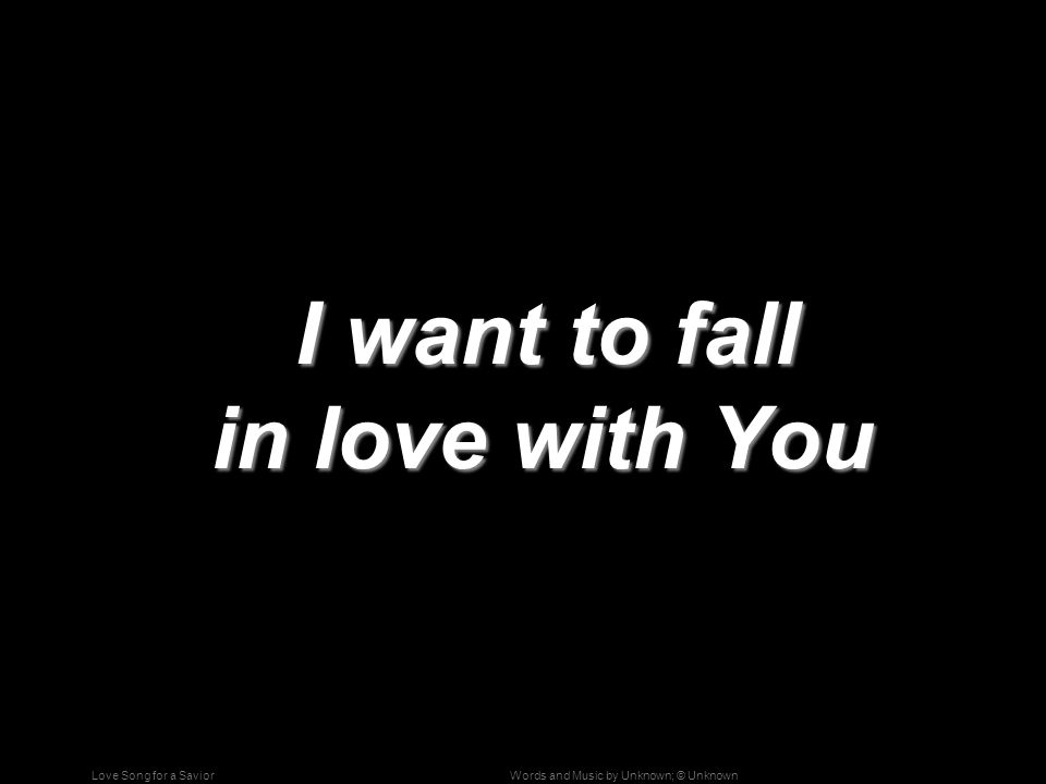 i want to fall in love song