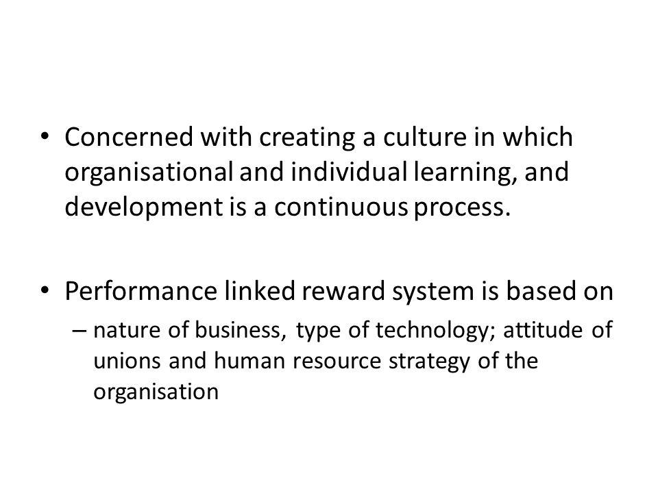 performance linked reward system