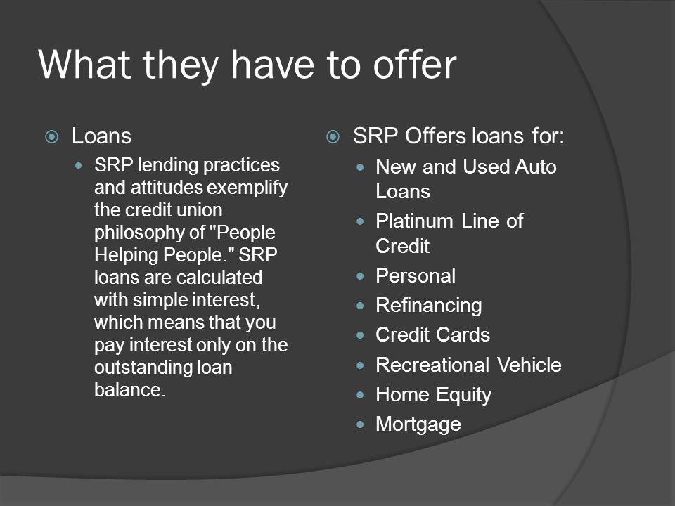 Srp Auto Loans