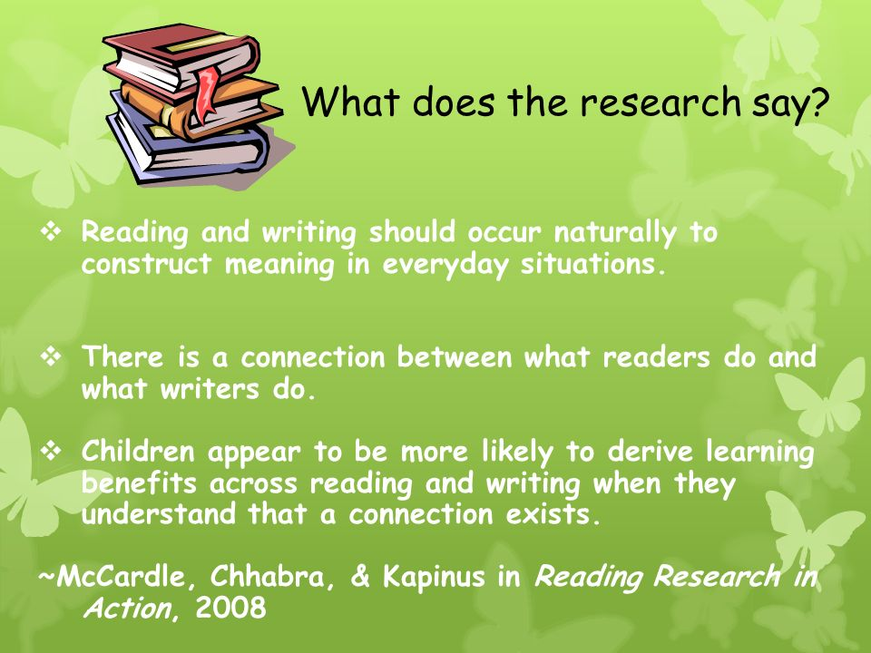 relationship between reading and writing process