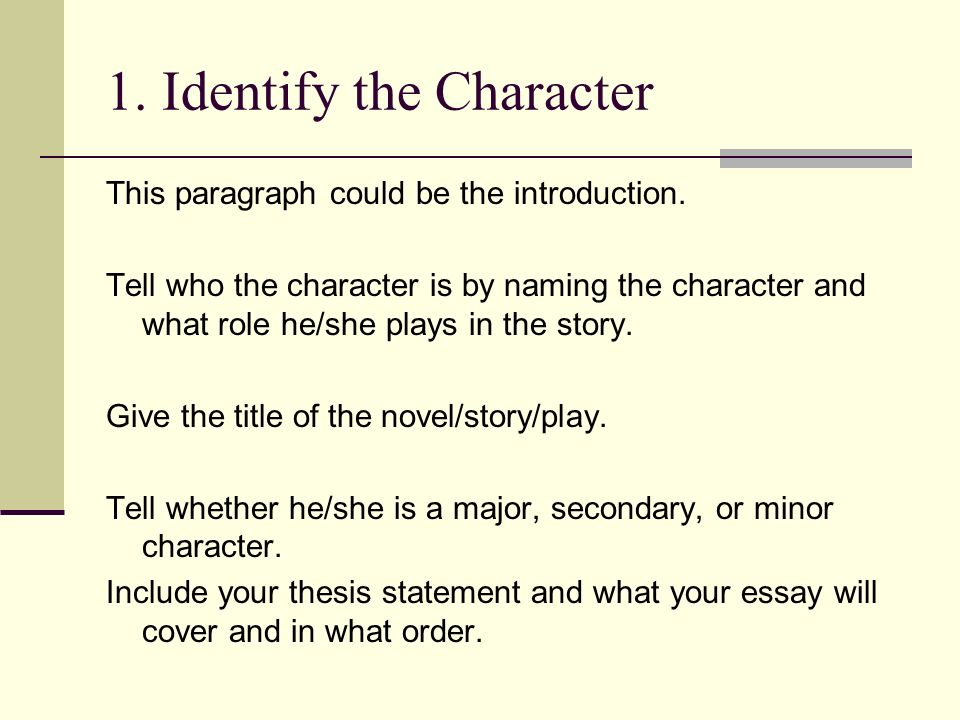 Character Character Sketch Essay What Is A Character Sketch  Identify The Character This Paragraph Could Be The Introduction Science And Literature Essay also Proposal Essay Examples  Write A Good Thesis Statement For An Essay