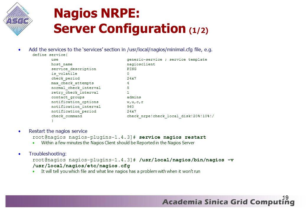 1 Grid Monitoring with Nagios Aries Hung, Joanna Huang
