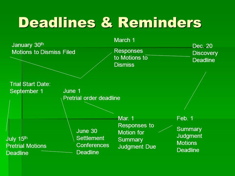 Chapter 7 Calendaring, Docket Control & Case Management  - ppt download