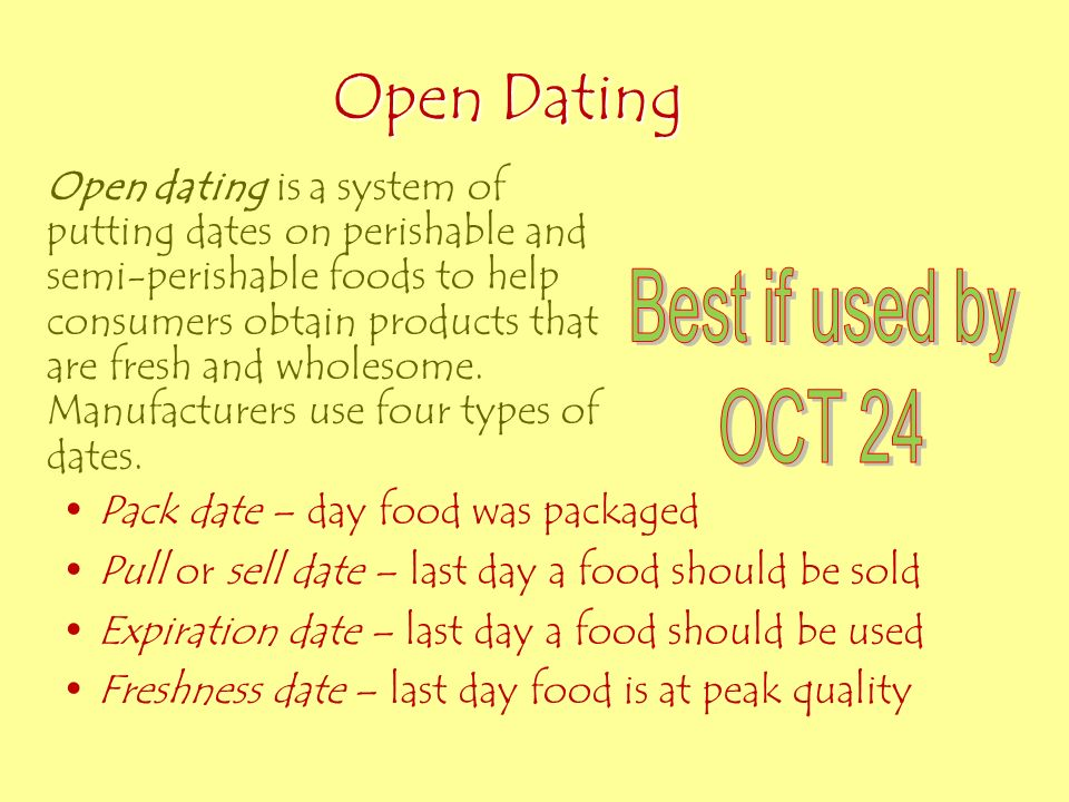 Is open dating required on food labels