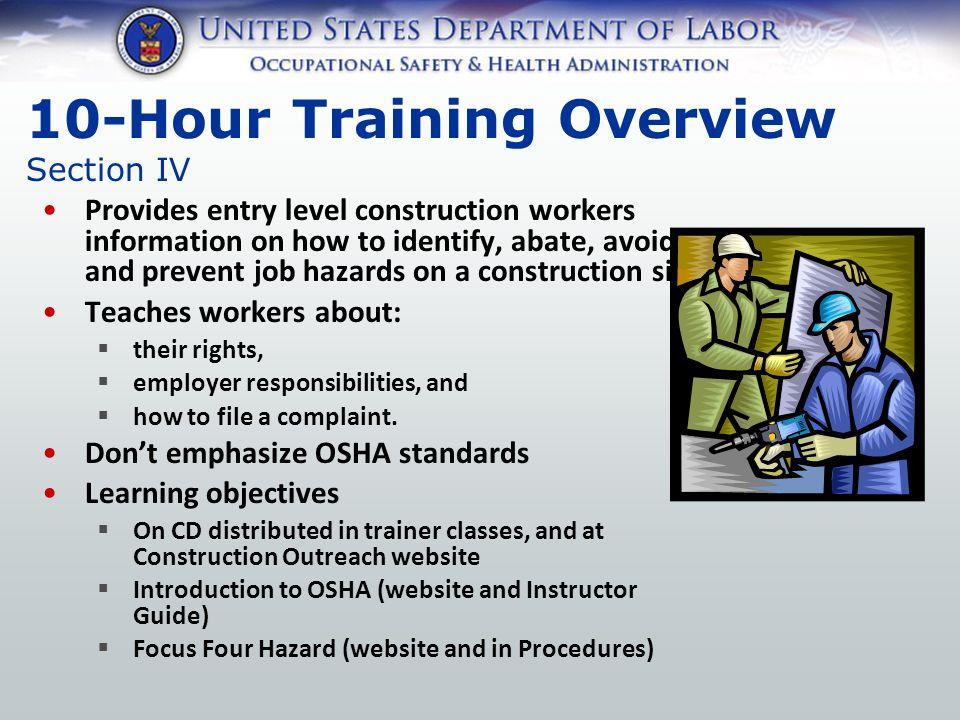 Outreach Training Program Construction Industry Procedures