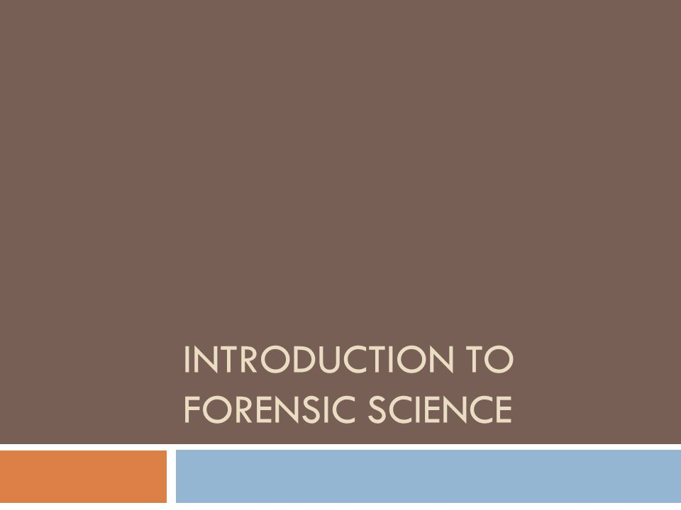 An introduction to the definition and origins of the word forensic