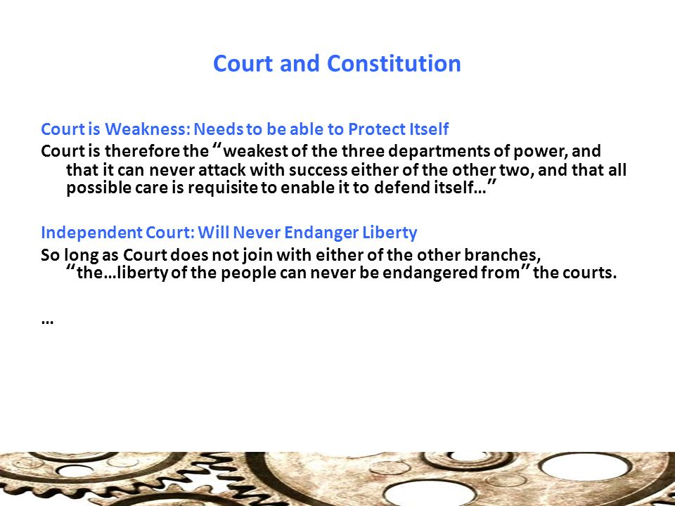 "Federalist 78 "" Alexander Hamilton  Court and Constitution"