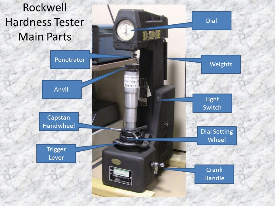 South Adams Machine Trades Rockwell Hardness Tester Ppt Download