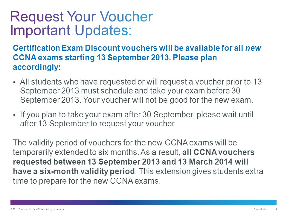 How to Access and Redeem Cisco Certification Exam Discount Vouchers ...