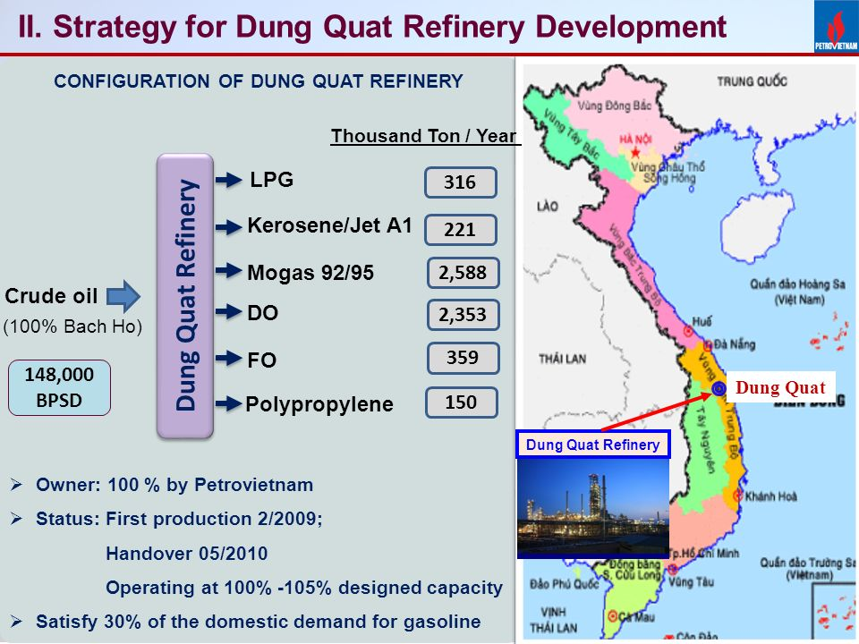"Картинки по запросу ""Refinery Dung Quat map"""""
