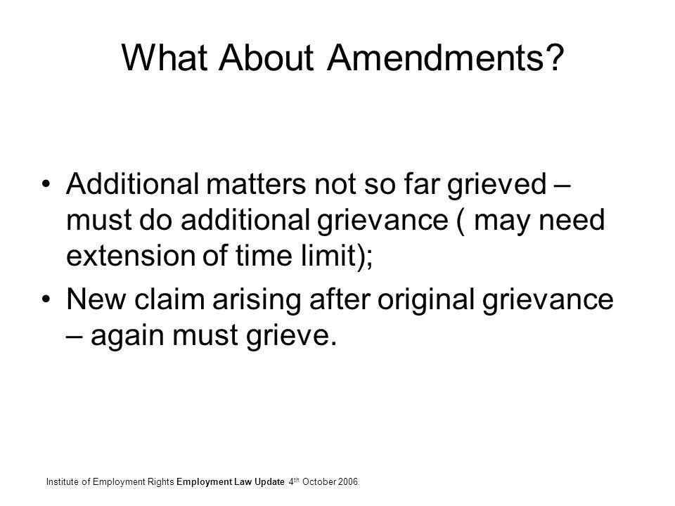 15 What About Amendments