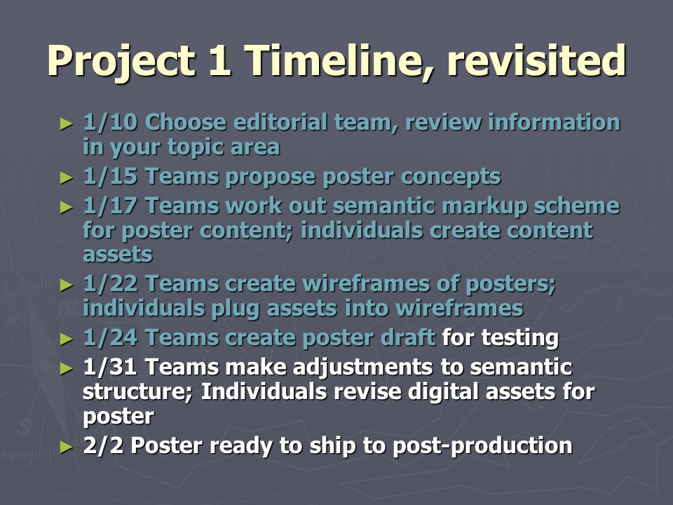 Advanced Technical Writing 2008 Session #2  Today ▻ P1