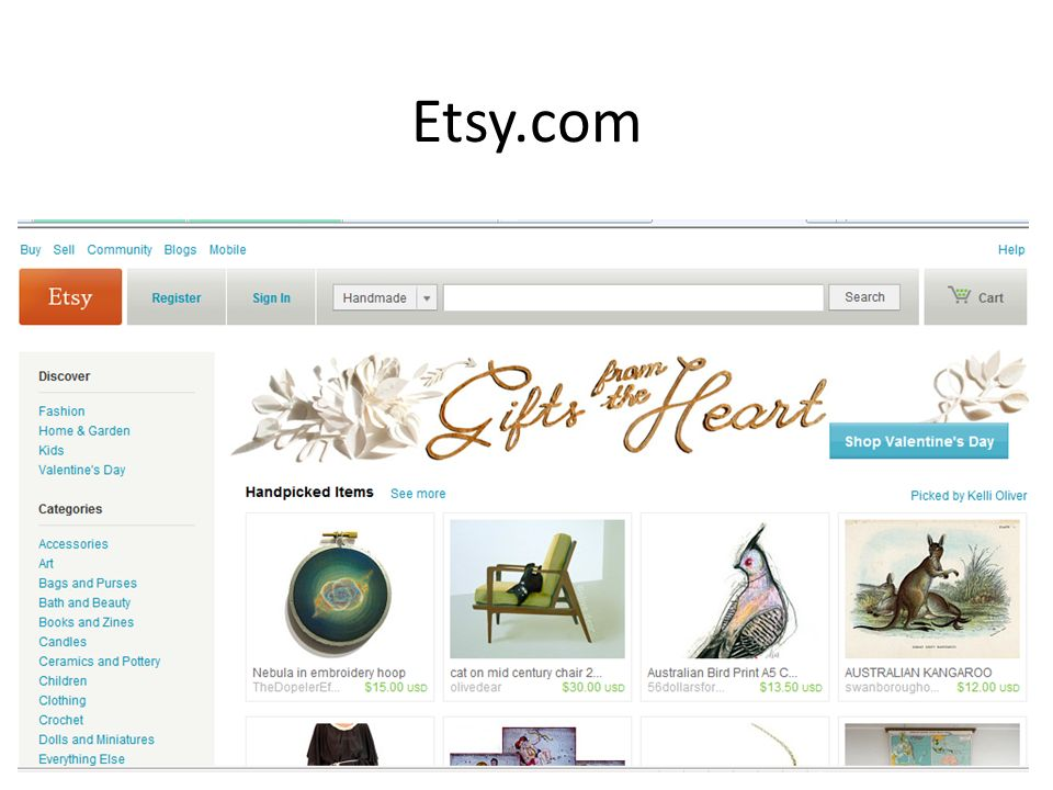 Etsy com  What you need: An Etsy account! A valid address A