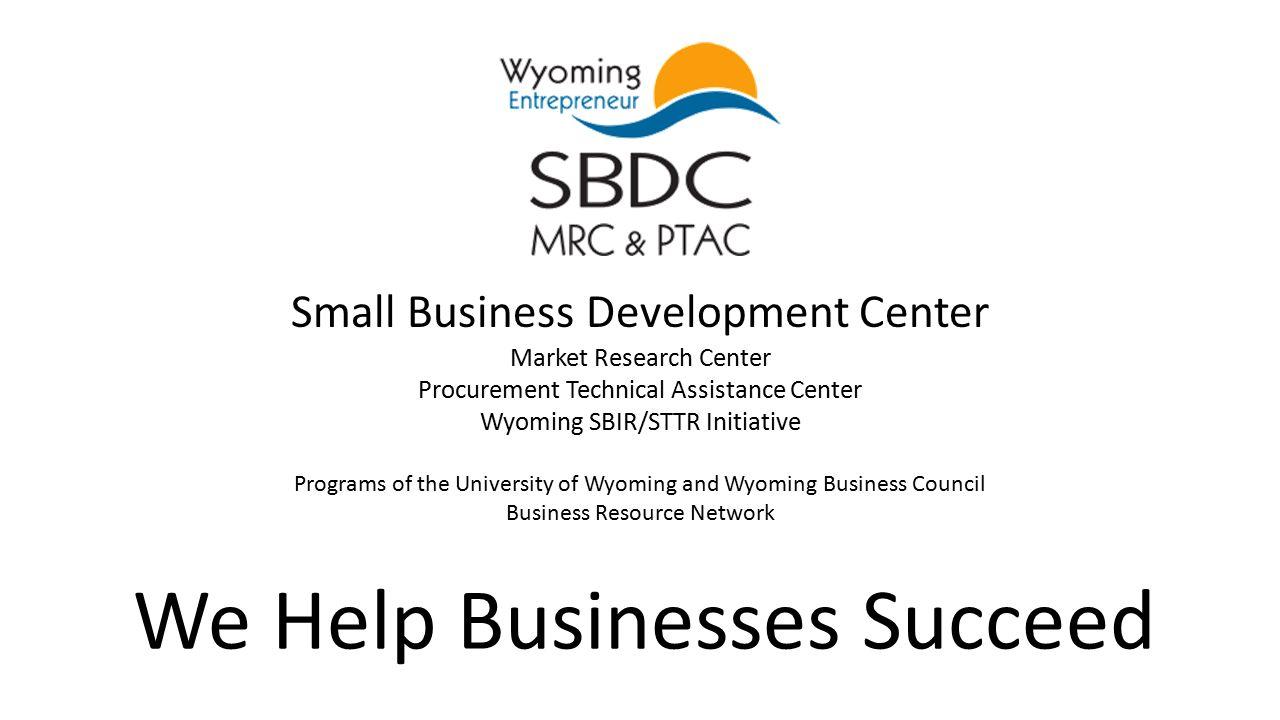 Small Business Development Center Market Research Center
