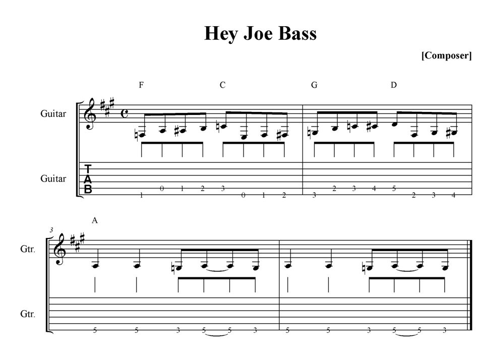 Hey Joe Great bass line makes this song. Two Versions Most people ...