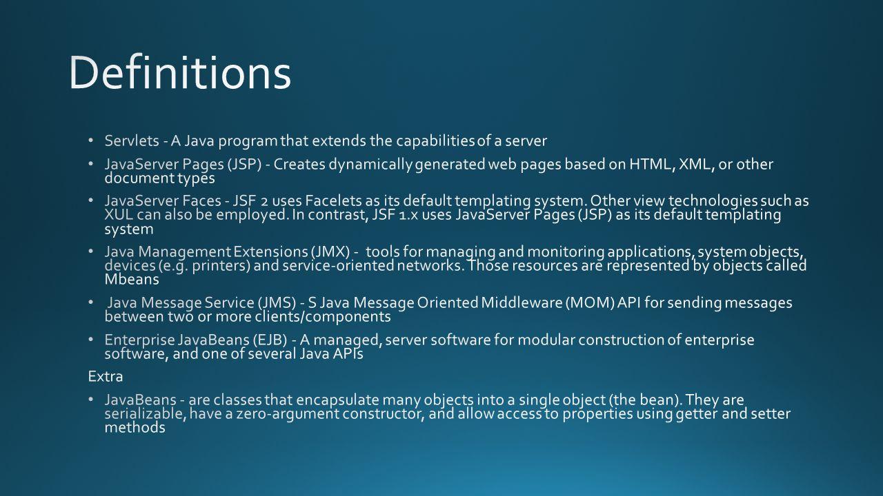 J2EE/Java EE Apache Tomcat v9 IBM Websphere v8 Redhat JBoss EAP v6