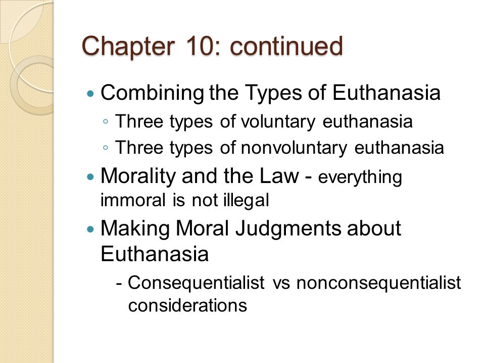 is euthanasia morally permissible