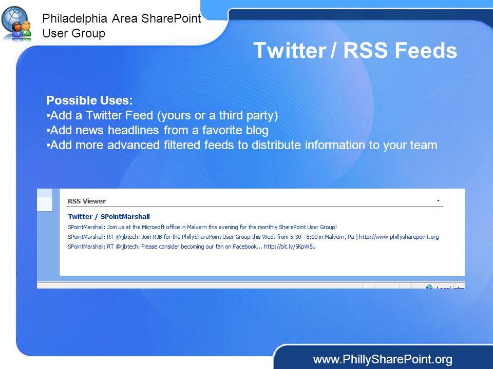 Philadelphia Area SharePoint User Group Philadelphia Area