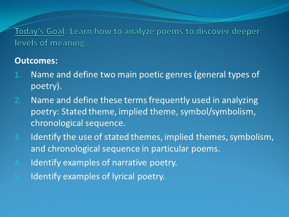 1 Handouts Meaning Of Poems In Class Assignment For Tue Wed
