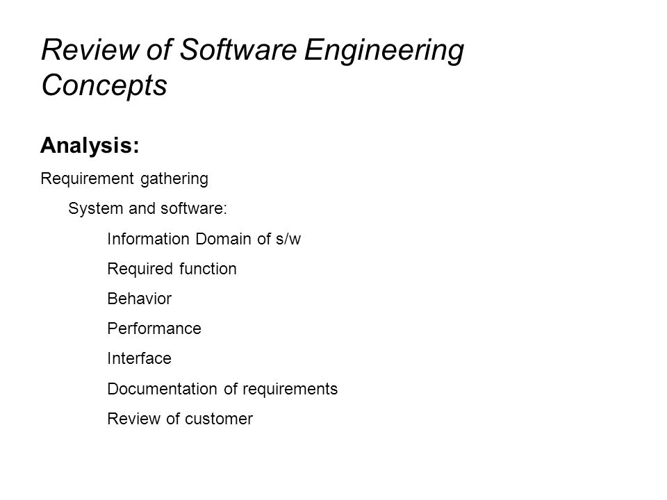 Software Engineering Process Lecture Software Development Life - Requirement documentation in software engineering