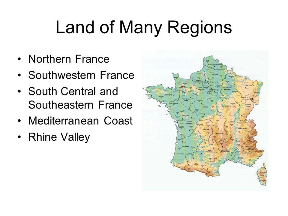 Map Of Northern France Coastline.France Land Of Many Regions Northern France Southwestern France