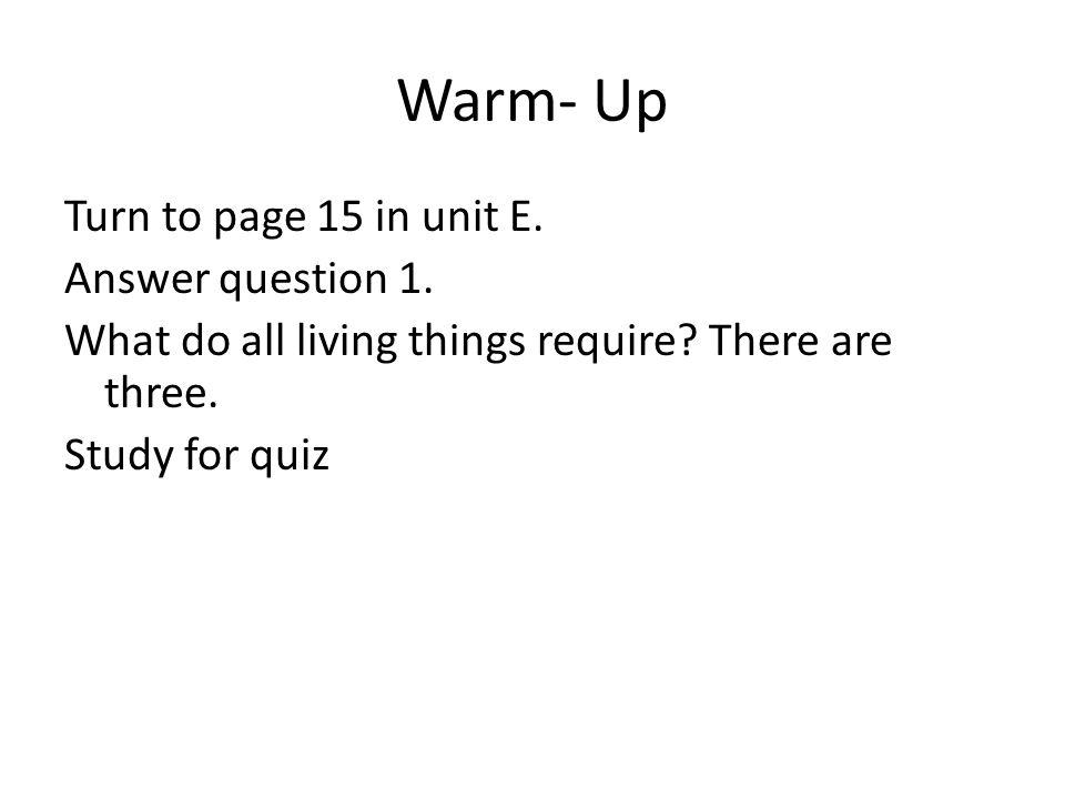 1 Warm  ...