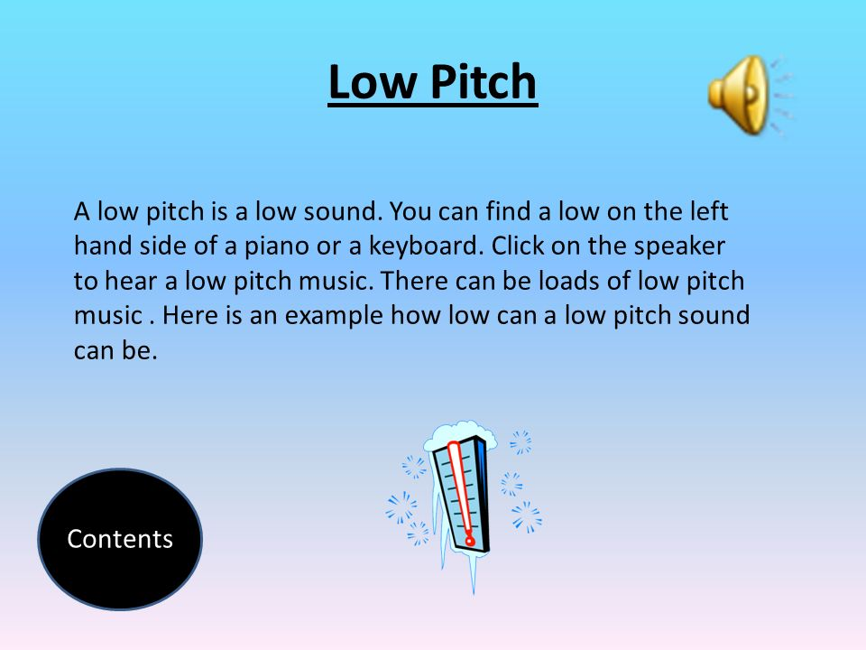 The highs and lows of pitch presented by chris mcvay grade 3.