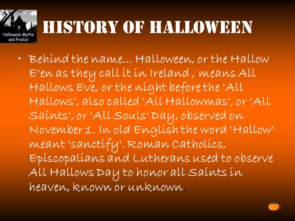 2 history of halloween behind the